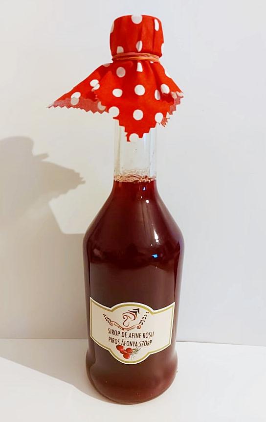 Vörös áfonya szörp