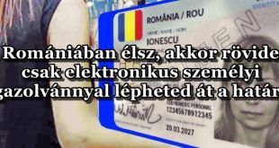 románia elektronikus személyi igazolvány