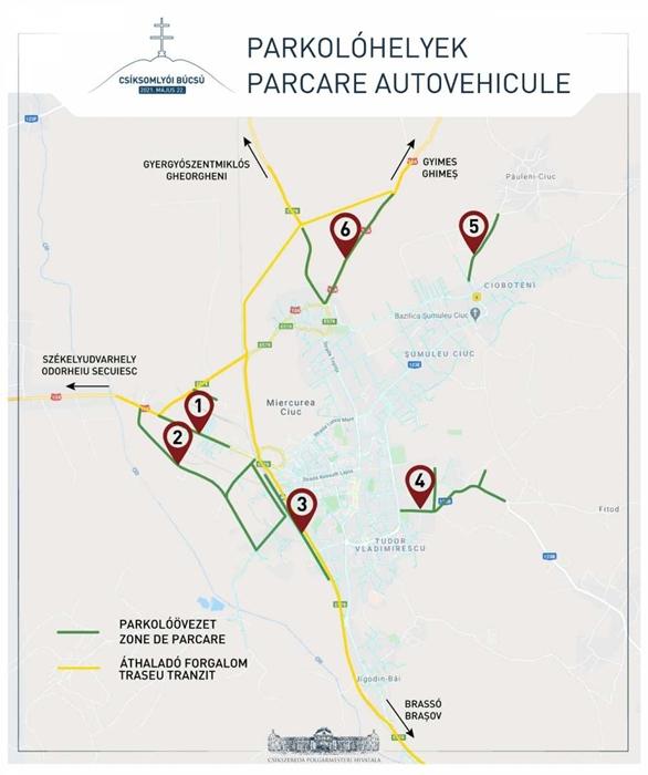 parkolóhelyek - fotó: Csíkszereda polgármesteri hivatala