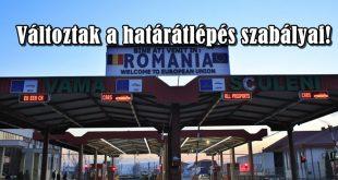 Határátlépés Románia felé