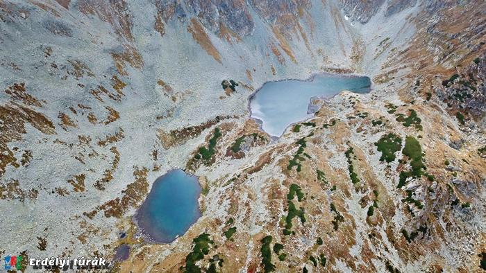 Drónfelvételen a Kis éa a Nagy-Kusztura tó